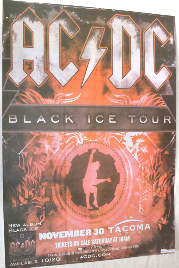 AC DC Black Ice Tour Poster