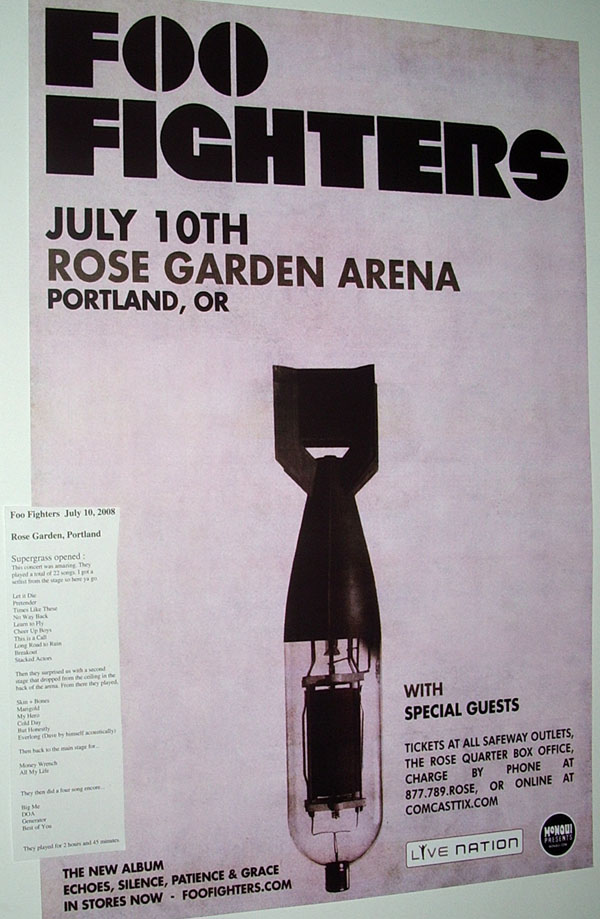 Foo Fighters Concert Poster echoes silence patience and grace